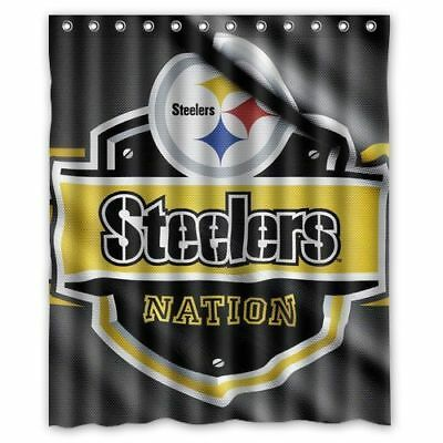 New Pittsburgh Steelers Flag Shower Curtain Size 60x72 Inch One Side