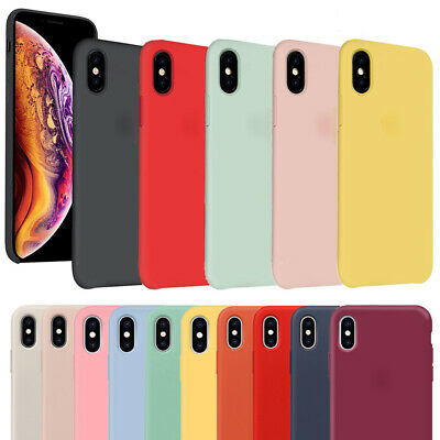 For Apple iPhone XS Max XR X XS 8 7 Plus Case Genuine Liquid Silicone Soft Cover