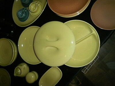 Iroquois Casual Russel Wright Avocado Yellow Serving Bowls (3pcs)