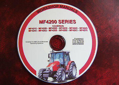 Massey Ferguson Mf4200 Series 4215 - 4270 Tractor Workshop Service Repair Manual