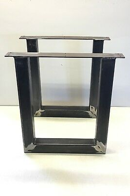 2 x Industrial Retro Metal Bench legs , Table, Coffee table , Box section, Steel