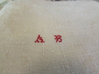 Three Antique French Large Pure Unbleached Linen Torchons Kitchen Towels