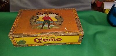 Old Vintage or Antique Certified Cremo Wood Cigar Box