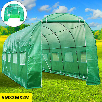 5M X 2M Fully Galvanised Steel Frame Poly Tunnel Greenhouse Pollytunnel Tunnel
