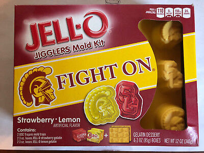 USC TROJANS JELL-O, Jigglers Mold Kit, New in Box, Fight On! Beat the Bruins!