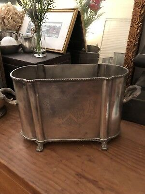 Engraved Silver Plated Double Champagne Bucket Wine Cooler