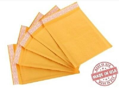 """50 #0 6x10 Kraft Bubble Mailers Self Seal Padded Envelopes 6/""""x10/"""" Secure Seal"""