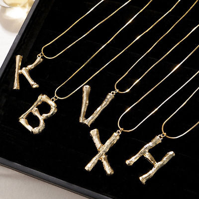 Women Metal Luxury Alphabet Pendant Letter A To Z Gold Plated Necklace