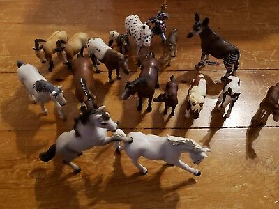 Schleich Horses Lot Of 16, plus a Knight