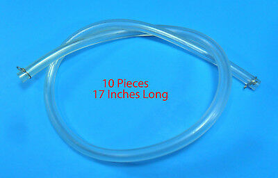 "(10 Pack) Clear Gas Fuel Line 17"" with Clamps - Scooter ATV Dirt Bike (500_4)"