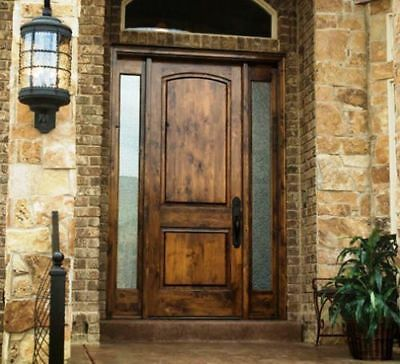 On Sale! 8ft Tuscan Style Knotty Alder Entry Door with Sidelites
