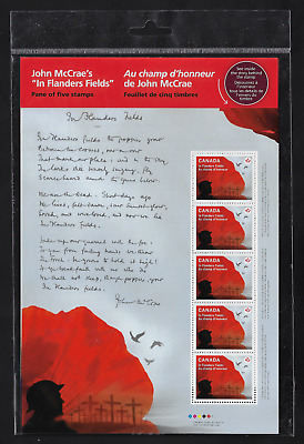 Canada Stamps - Full Pane - In Flanders Fields / Au champ d'Honneur # 2835 - MNH