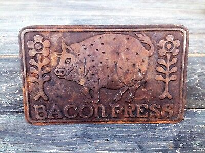 Vintage Taylor & Ng Cast Iron Piggy Bacon Press, Country Style Decoration