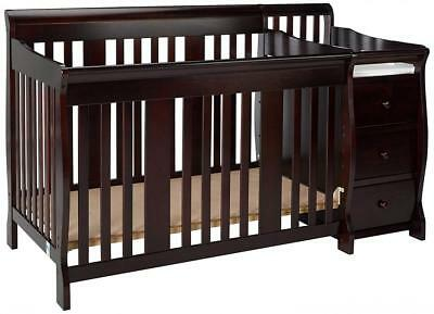 Storkcraft Portofino 4-in-1 Fixed Side Convertible Crib and Changer,...