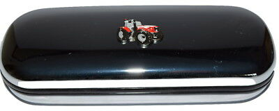 Tractor Glasses Case Red Tractor Enamel Chrome Farming Gift inc cloth