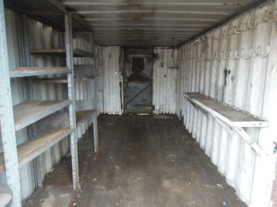 20ft Shipping Container WORKSHOP or STORAGE with SMALL DOORS