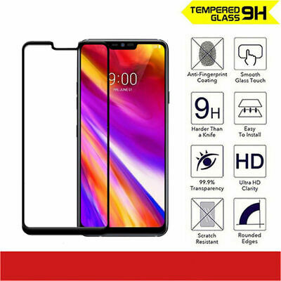 5D Full Front Cover Tempered Glass Screen Protector for LG G7 ThinQ & G7 One