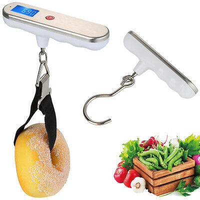110lb/50kg Portable LCD Digital Hanging Luggage Scale Travel Electronic Weight