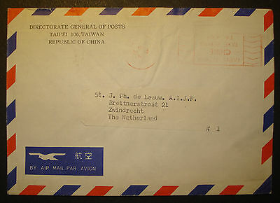 China /Taiwan/Taipei 1971: Brief Director General m. meter stamp St. Taxe Percue