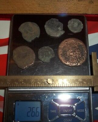 Ancient Rare Roman Coins Diameters 1/2 inch, 25+ grams Lot of 6x Authentic coins