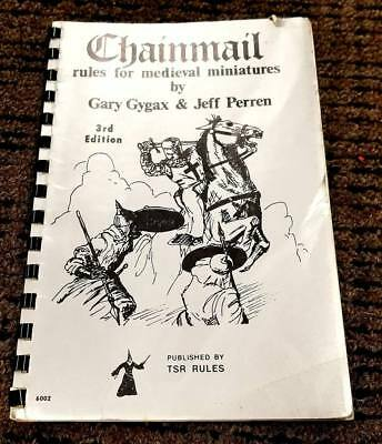 CHAINMAIL Rules for Medieval Minatures 3rd Ed Gygax/Perren TSR/D&D 7th printing