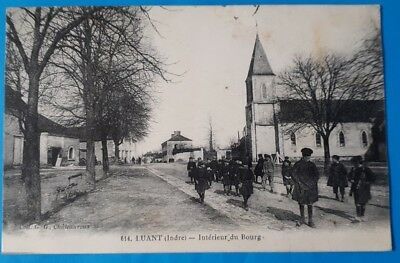 CPA Luant - Berry Indre - Eglise - Ecoliers - G.G. Châteauroux