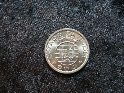 1 old world coin INDIA PORTUGAL PORTUGUESE 60 centavos 1959 KM32