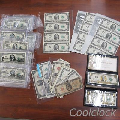 85 Pc Lot $2 Two Dollar U.S. & Federal Reserve Notes No Reserve $170 Face #Y373