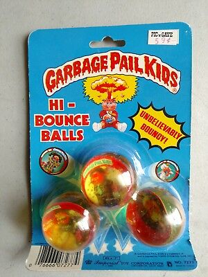Garbage Pail Kids Hi Bounce Balls 3 Pack 1986 Ventilated Vinnie New Wave Dave