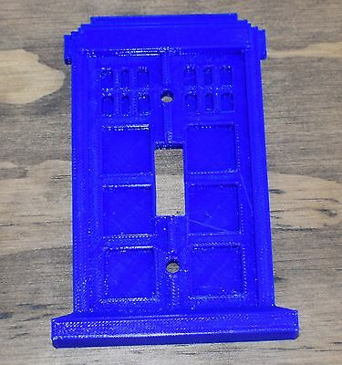 Doctor Who Tardis Light Switch Cover Dr Who Cover 3D Printed - Made In Usa Pr40