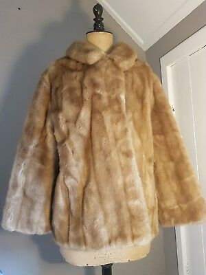 Vintage Original 1970's French Faux Fur Coat By Tissavel