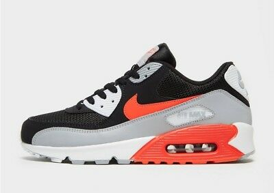Nike Air Max 90 Essential OG Black Grey White Red Mens Sneakers Trainers Shoes