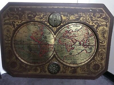 MASKETEERS OLD WORLD Brass MAP a new and Accurate Map of the World 1628