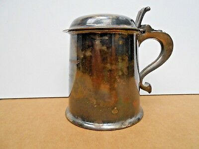 STERLING SILVER TANKARD w/ HINGED LID . . ~150 grams . . 1939 MIXED DOUBLES
