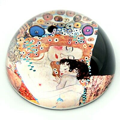 Klimt Mother and Child Glass Dome Paperweight New Mother Baby Shower