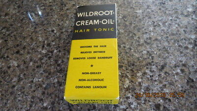 Wildroot Cream-Oil Hair Tonic in Original Box Great 3.5 oz.