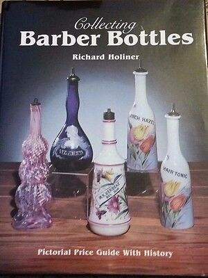 BARBER SHOP BOTTLE VALUE GUIDE COLLECTOR'S BOOK Color Photos Hardback