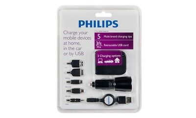 Philips Charger Kit All Purpose Multi Brand Home Car Usb