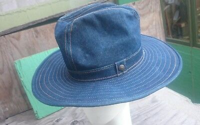 Vintage LEVIS Strauss   Co Denim Cowboy Hat - Great Sightly Used Condition  ... c52e86200b8