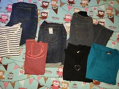Motherhood Maternity tops and Jeans XL LOT D USED