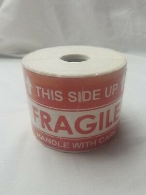 "1000 Large 3""x5"" Handle with Care Thank You Fragile Shipping Labels Stickers"