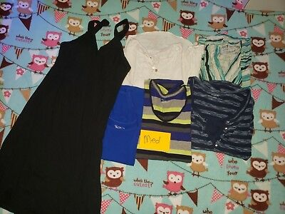 Maternity tops and Jeans MED LOT 1 USED