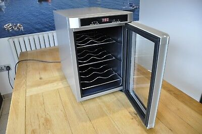 Wine Bottle Cooler Drinks Chiller Cellar Rack Refrigerator Glass Door Bar Fridge