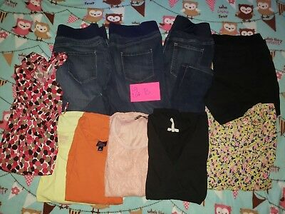 Maternity tops and Jeans  LARGE LOT B USED