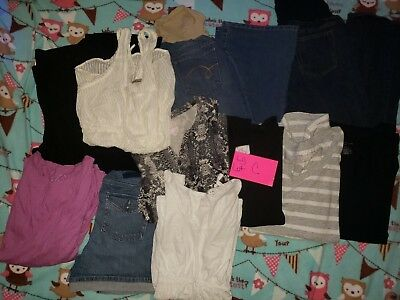 Maternity tops and Jeans  LARGE LOT C USED