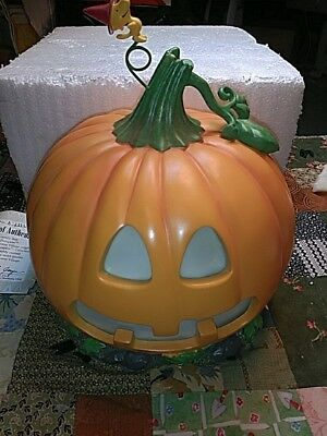 "Hawthorne Village Halloween Peanuts ""THE GREAT PUMPKIN"" Centerpiece RARE #D COA!"