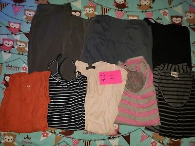Maternity tops and Jeans  LARGE LOT 1 USED
