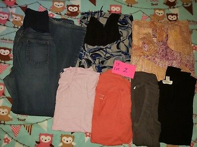 Maternity tops and Jeans  LARGE LOT 2 USED
