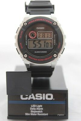 Casio Digital Watch Quartz Water Resist Light Alarm Men Women Kids With Gift Box