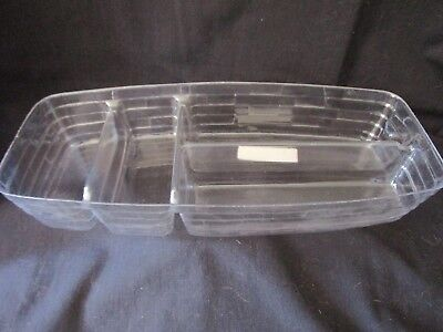 LONGABERGER Plastic Basket Protector #44067 Large Market Top Divided Tray